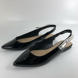 Aldo Stemberry Taper Black Bow Flats 6.5